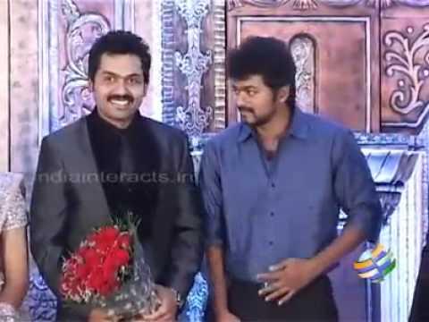 Vijay at Karthi's wedding reception