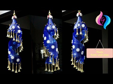 Plastic bottle wind chime - Recycled wine bottle wind chimes - Craft wine bottle wind chimes