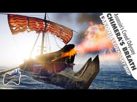 Assassin's Creed Odyssey: Chimera's Breath Ship Ability | Lakonia Legendary Ship Design
