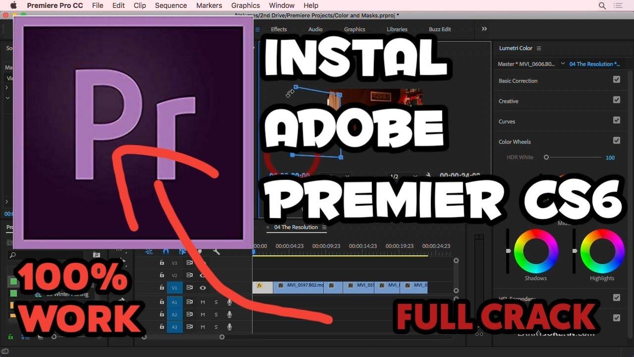 Tutorial Menginstal Adobe premier cs6 full crack //100% work