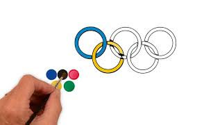 How To Draw The Olympic Rings || Make The Olympic Rings 2018