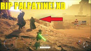 Star Wars Battlefront 2 - Poor Palpatine got owned by Anakin! XD | Yoda Killstreak! (Geonosis)