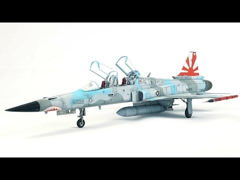 Timelapse video build F-20 Tigershark 1:48 scale model kit