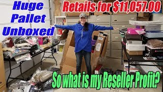 Huge Pallet Unboxed Retials for $11,057 - What is my Reseller Profit - Bulq.com Liquidataion