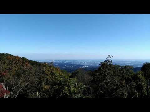 The panoramic view from summit of Mt.Takao , Tokyo 秋の高尾山頂