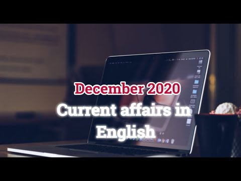 December 2020 Current affairs In English