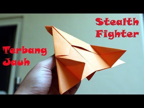 Origami pesawat tempur terbang jauh Stealth Fighter