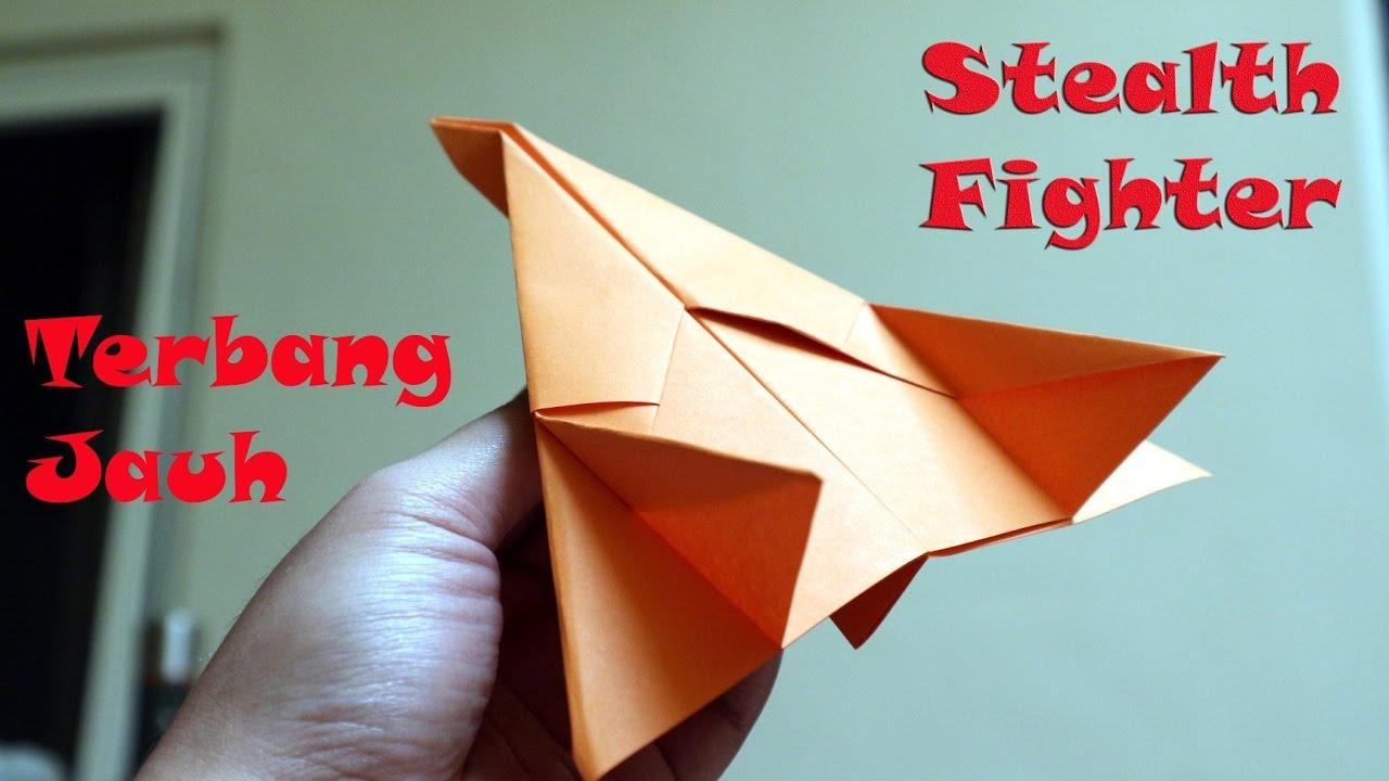 Origami Pesawat Tempur Terbang Jauh