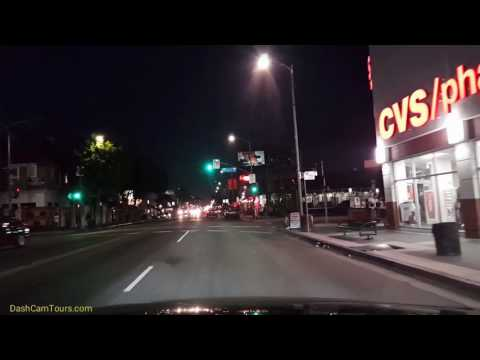 Night driving around Los Angeles. No talking, no music