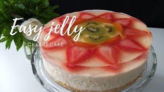Jelly CheeseCake recipe|no bake|
