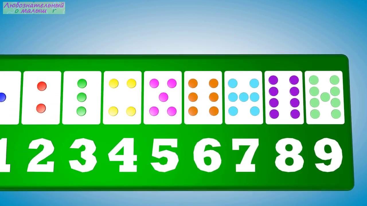 Учимся считать на точках. Цифры, счет