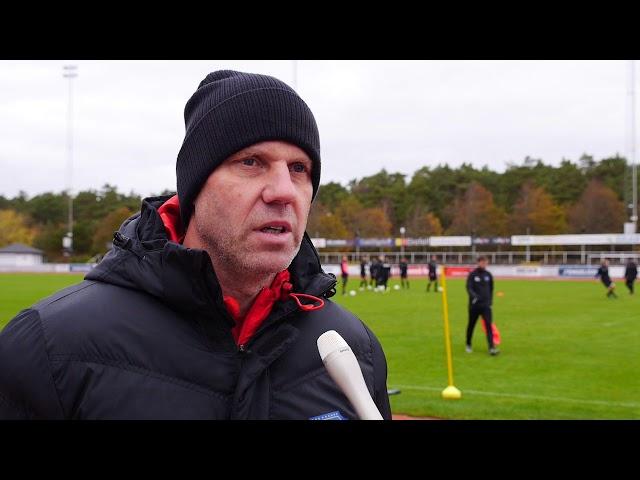 Hasse Eklund inför Falkenbergs FF   Frej Täby, Superettan 2017