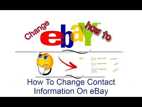 How To Change Contact Information On eBay