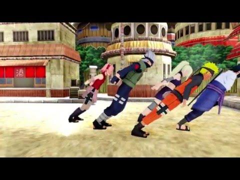 [MMD] Naruto Sakura Kakashi and Sasuke Perform Smooth Criminal in Konoha!