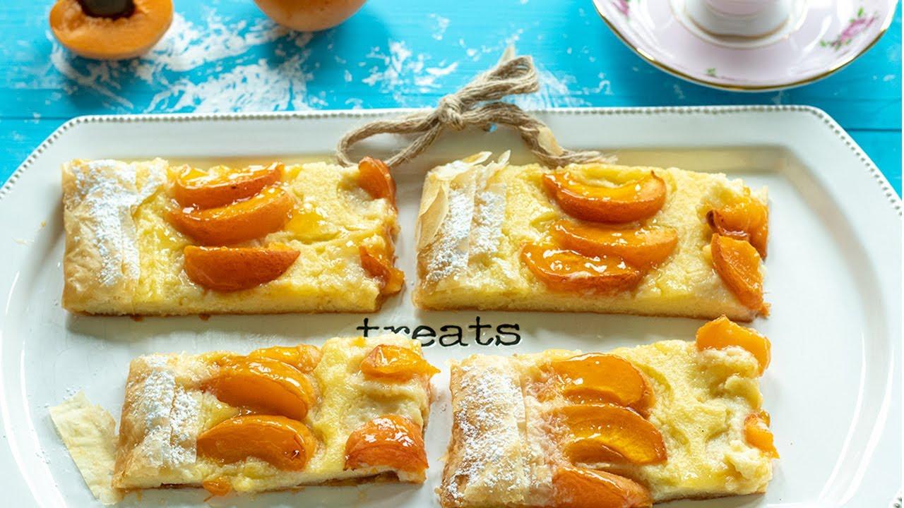 Greek Style Apricot Summer Tart: Galatopita Custard Pie
