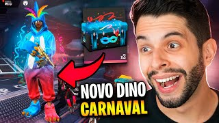JÁ TESTEI O NOVO DINO RARO DE CARNAVAL NO FREE FIRE!!