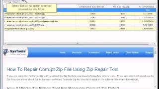 Zip Repair -- Download Advanced Zip file Recovery Tool to Repair and Fix Corrupt Zip Data