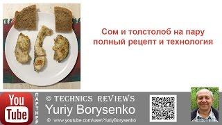 Сом и толстолоб на пару полный рецепт и технология