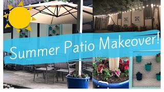 ☀️SUMMER PATIO MAKEOVER |PATIO IDEAS | PATIO MAKEOVER | PATIO DECORATING IDEAS☀️