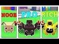 NOOB vs PRO vs RICH - ROBLOX PET SIMULATOR VERSION! *FUNNY*