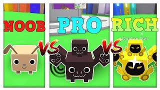 NOOB vs PRO vs RICH - ROBLOX PET SIMULATOR versione! * DIVERTENTE *