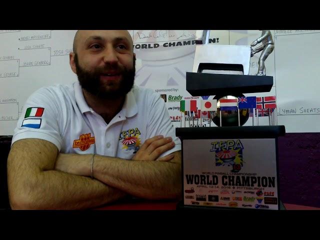 Daniele Acciari Campione del Mondo di flipper sportivo 2016