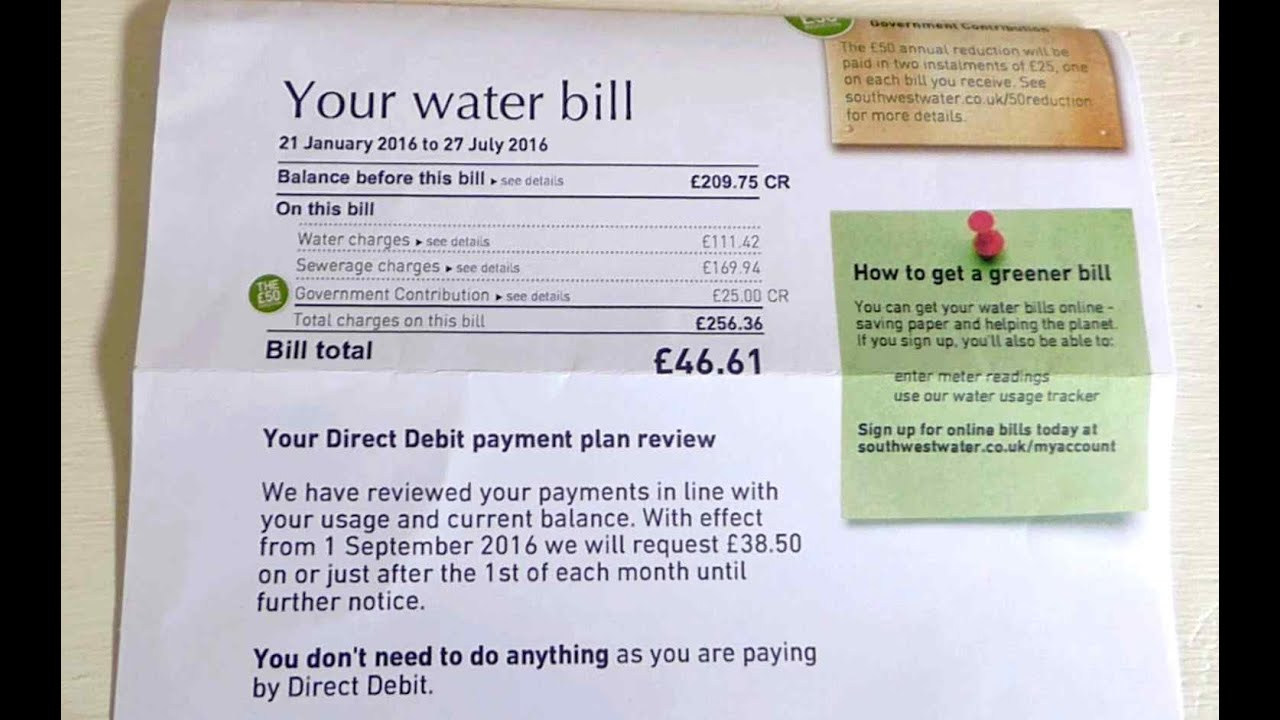 The water bill