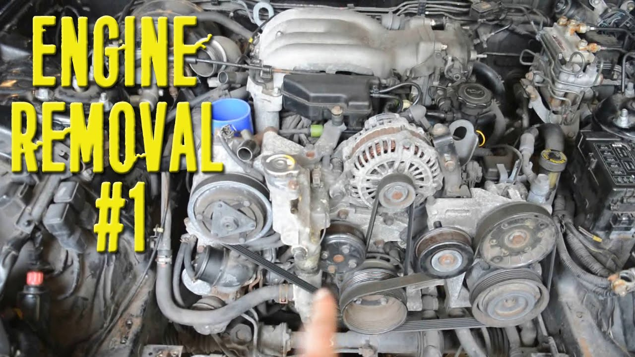 Removing 13B Rotary From RX7 FD - Part 1 - YouTube