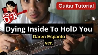 Download Chords of Dying Inside To Hold You - Easy Guitar Tutorial - Darren Espanto ver. MP3 song and Music Video
