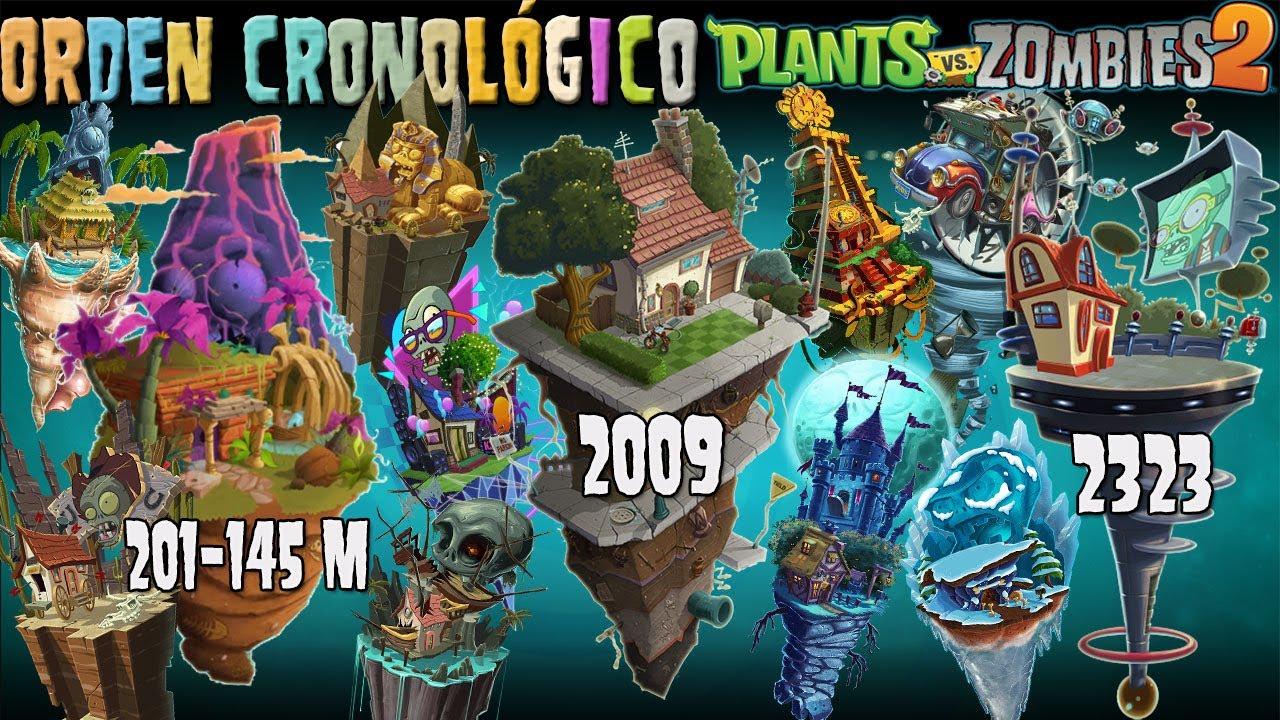 ¡Todos los Mundos de Plantas vs Zombis 2 en Orden Cronológico! ¡Datos, Curiosidades y más!
