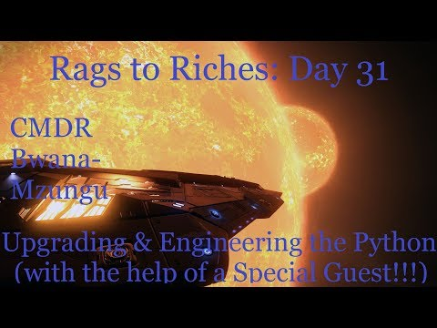 Rags to Riches: Day 31 - Upgrading & Engineering the Python with the help of a Special Guest!