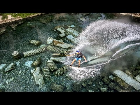 Wakeskating the Ancient Cleopatra Pool in Hierapolis w Brian Grubb