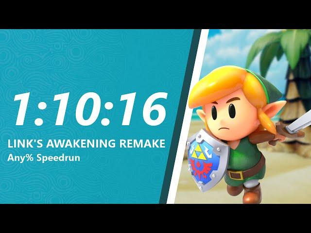 Link's Awakening Remake Any% Speedrun in 1:10:16