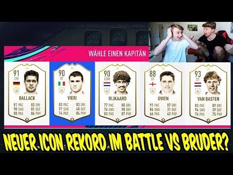 Fifa 19: Wer schafft zuerst den neuen ICON REKORD im Fut Draft Battle vs. BRUDER? - Ultimate Team thumbnail