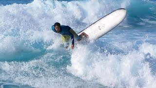 Makaha Beach Surfing, Oahu Hawaii : January 8, 2015