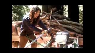Dead Redwood Becomes A Slab