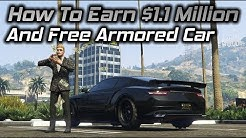 GTA Online: How To Earn 1.1 Million Dollars And a Free Armored Car With The Casino Story Missions