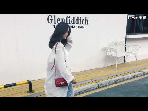 2019 여름 미니 잠금 버클 버클 작은 정사각형 가방 여성 야생 상자 가방 빨간색 작은 가방 리벳 메신저 가방의