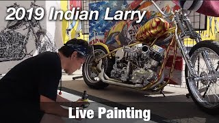 Motorcycle Art Part 88 / 2019 Indian Larry Grease Monkey Block Party