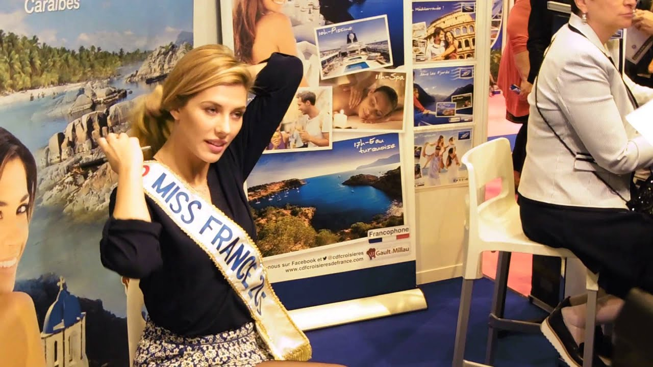 Camille cerf miss france 2015 aux salon mondial du tourisme for Salon du tourisme en france