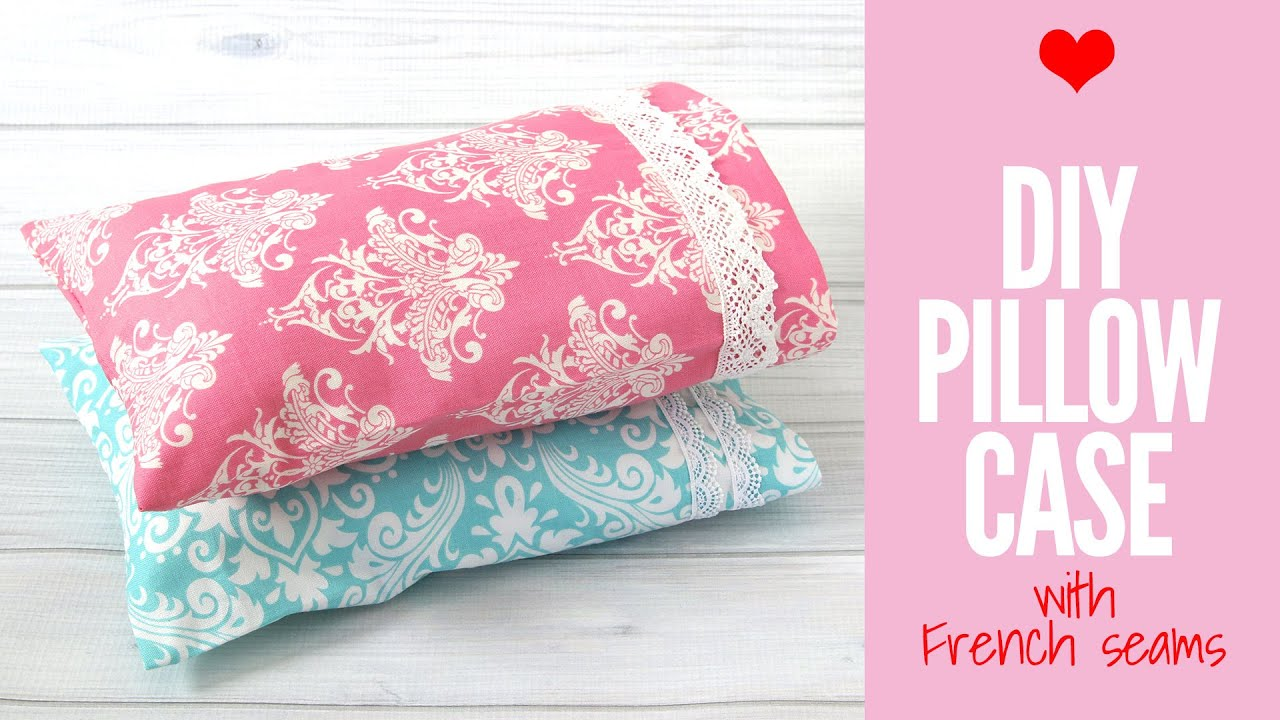 easy diy throw pillow covers step by step tutorial.htm how to make a pillowcase with french seams  very easy pillowslip  pillowcase with french seams