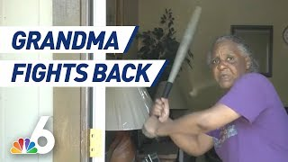 Florida Grandma Uses Bat to Fight Off Half Naked Attempted Carjacker | NBC 6