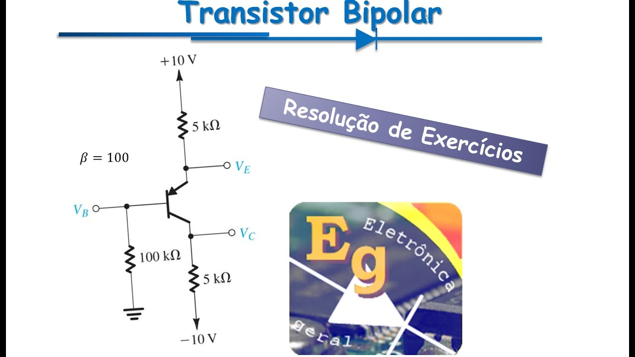 Circuito Cc : Transistores exercício polarização cc de circuito pnp youtube