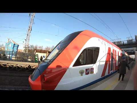 МЦД, ЭГ2Тв-021, маршрут D2: Нахабино - Подольск - первый день работы
