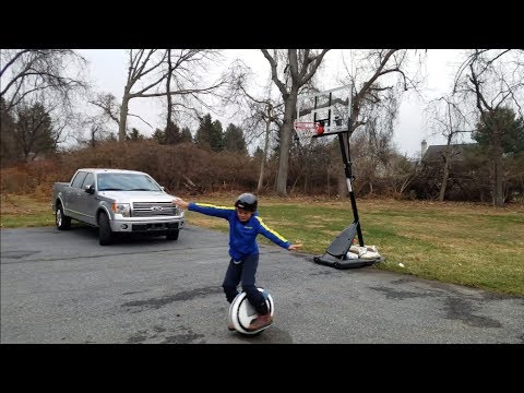 William Ki Gorman learns to ride his Ninebot One C+ electric unicycle