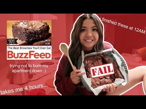 *trying* buzzfeeds best brownies you'll ever eat | maiphammy