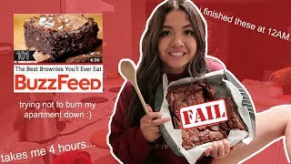 """*trying* buzzfeeds """"best brownies you'll ever eat"""" 