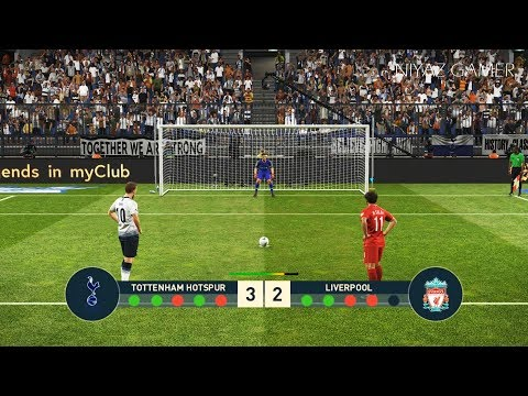 PES 2019   TOTTENHAM vs LIVERPOOL FC   Penalty Shootout   Gameplay PC