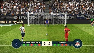 Download Video PES 2019 | TOTTENHAM vs LIVERPOOL FC | Penalty Shootout | Gameplay PC MP3 3GP MP4