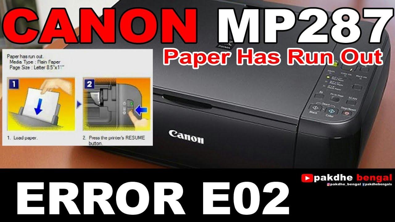 Error e02 canon mp280